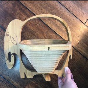Other - Elephant Wood Fruit Basket